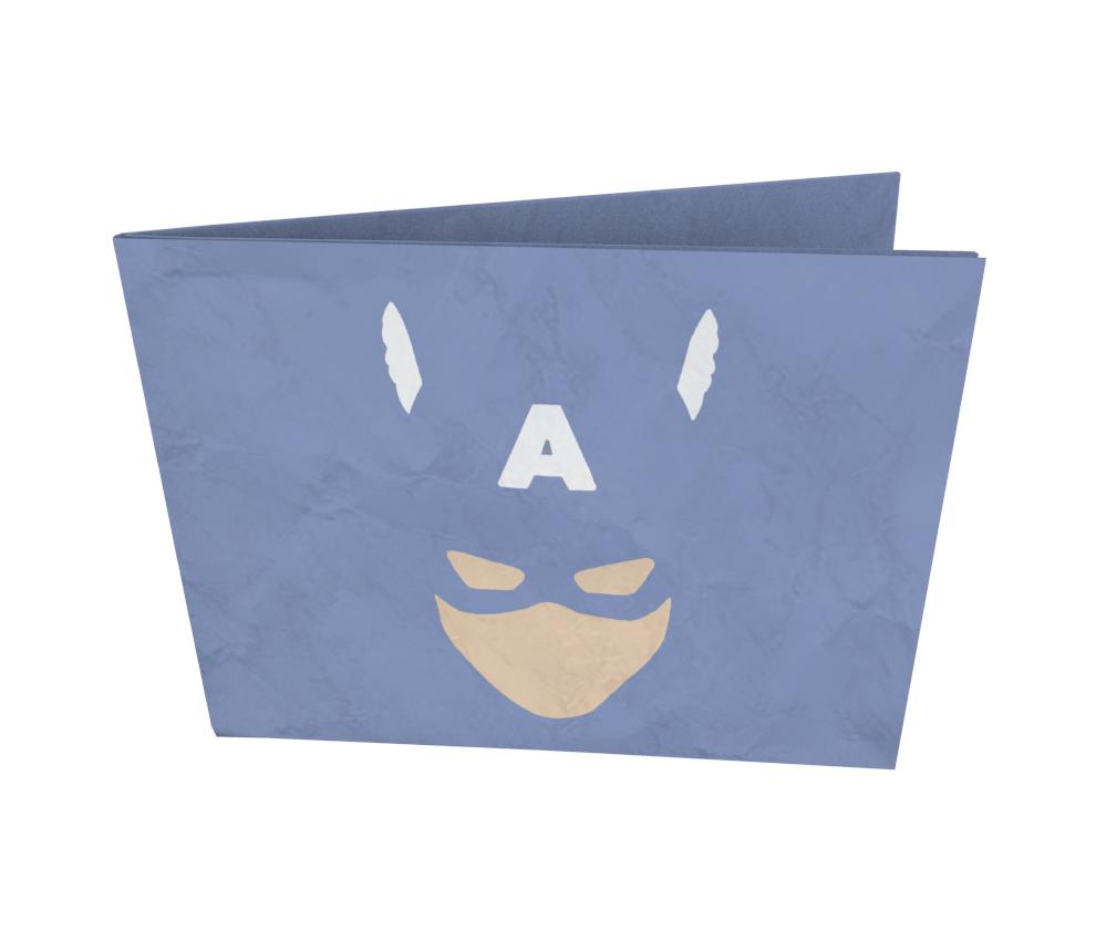 dobra - Nova Carteira Clássica - Minimalist Cap. America