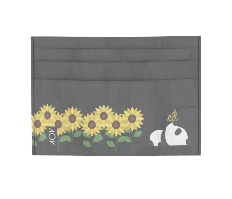 dobra - Porta Cartão - Panda Sunflowers