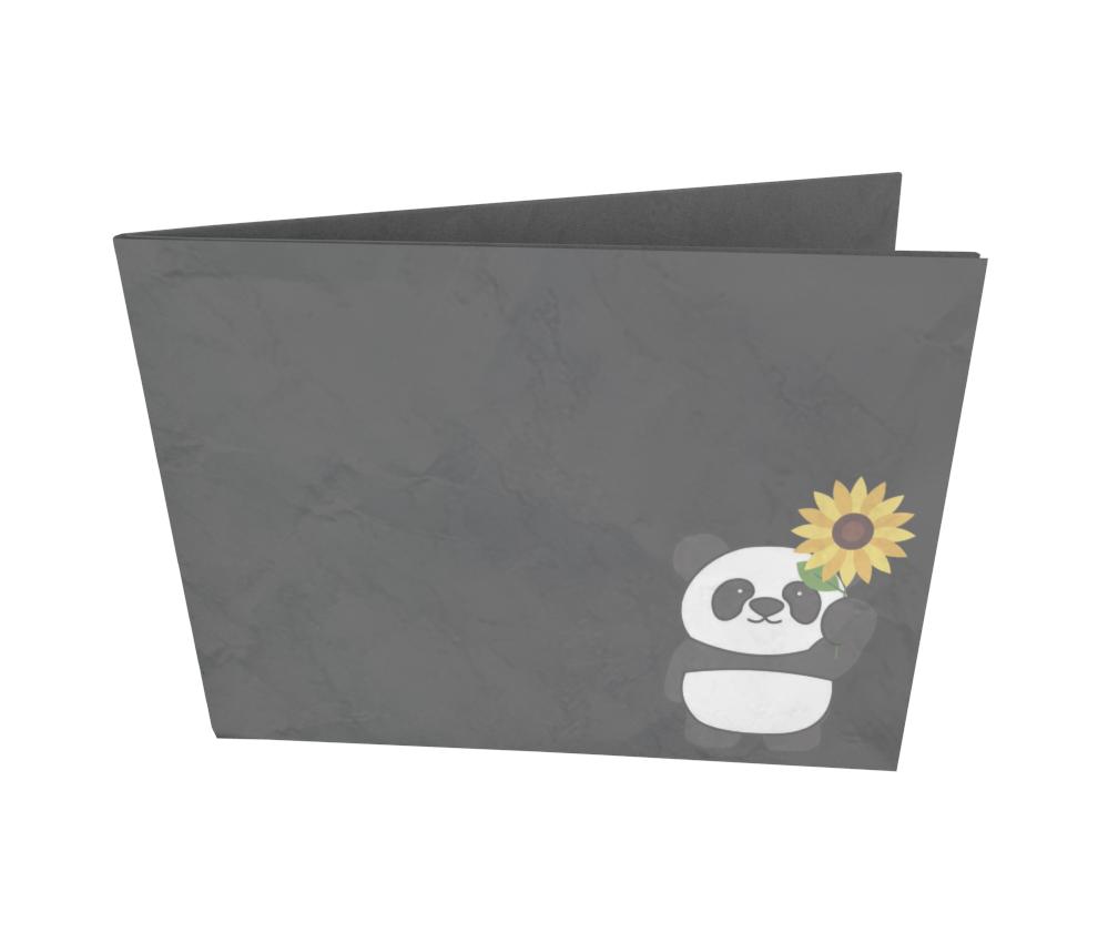dobra - Nova Carteira Clássica - Panda Sunflowers