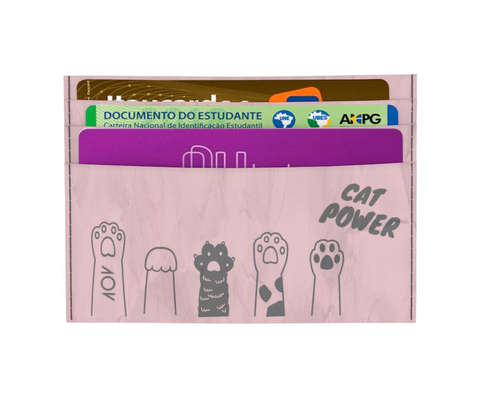 dobra - Porta Cartão - Pink Cat Power