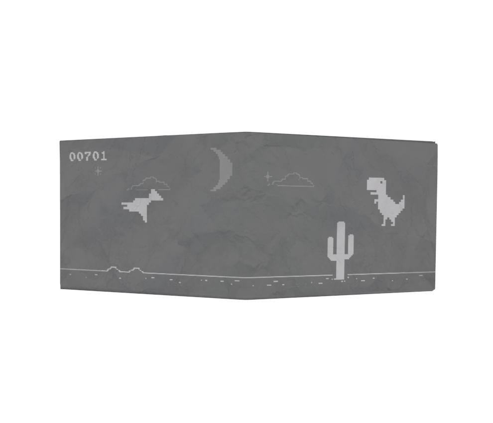 dobra - Nova Carteira Clássica - Sem Dinheiro - Dinossauro - Modo Noturno
