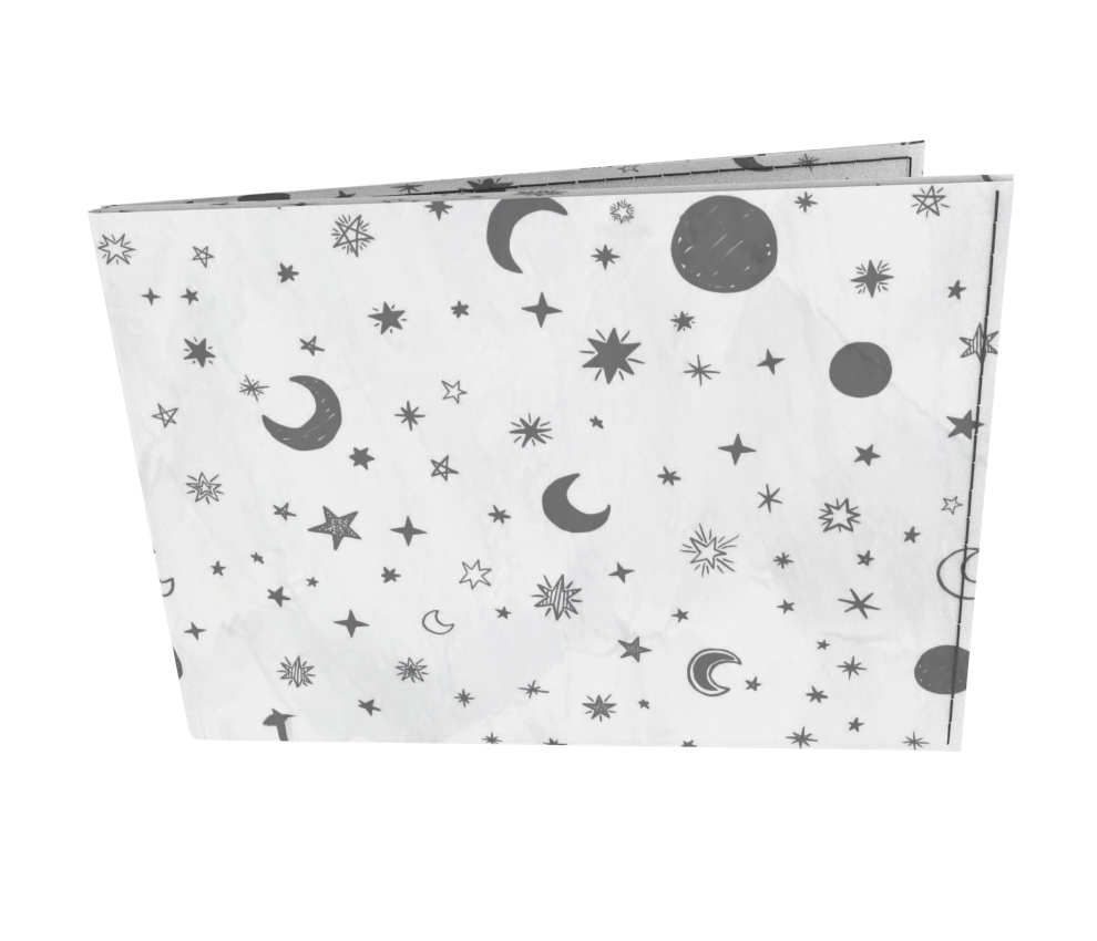 dobra - Carteira Old is Cool - White Moon and Stars