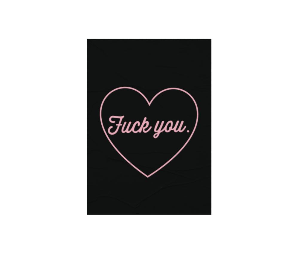 dobra - Lambe Autoadesivo - Fuck You