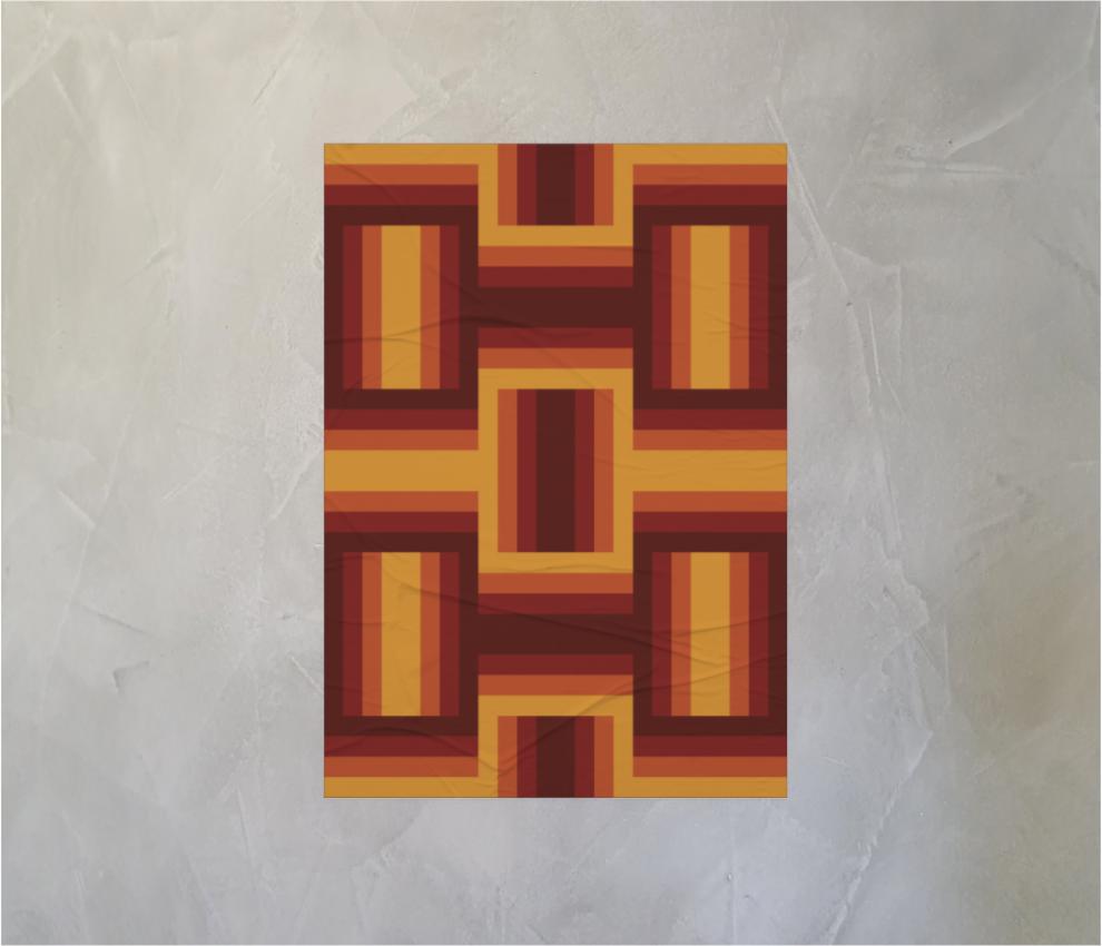 dobra - Lambe Autoadesivo - Retro Maze