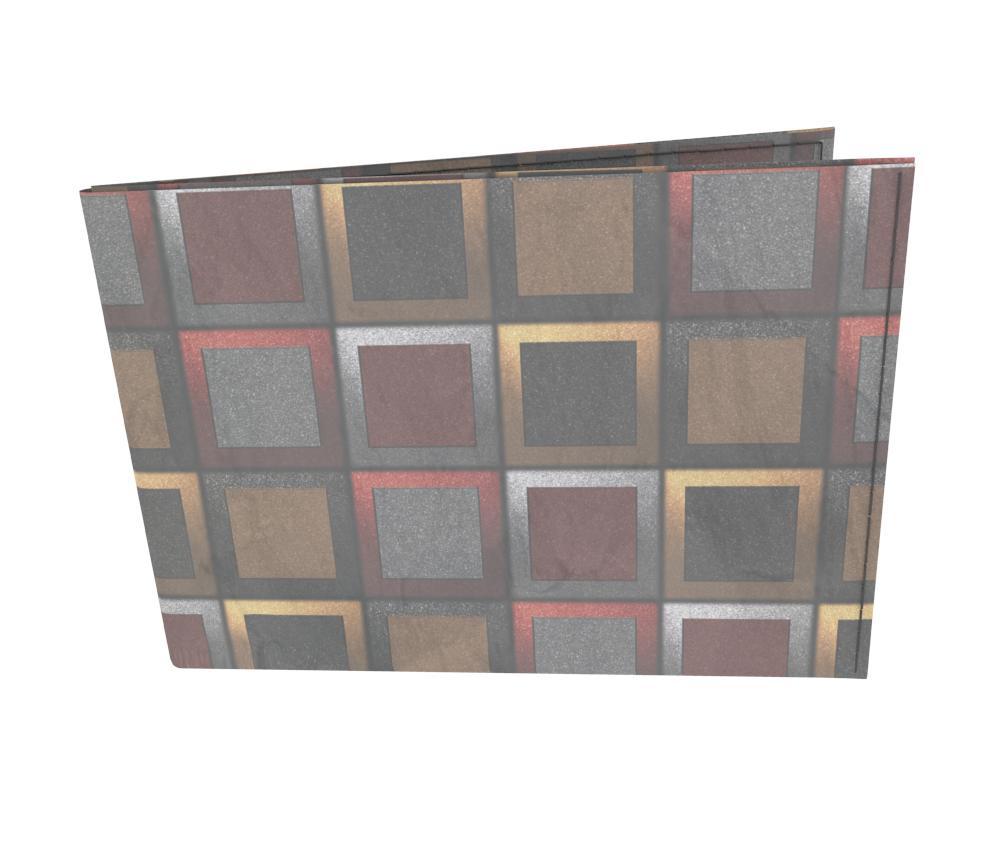 dobra - Carteira Old is Cool - Quadriculado 3D