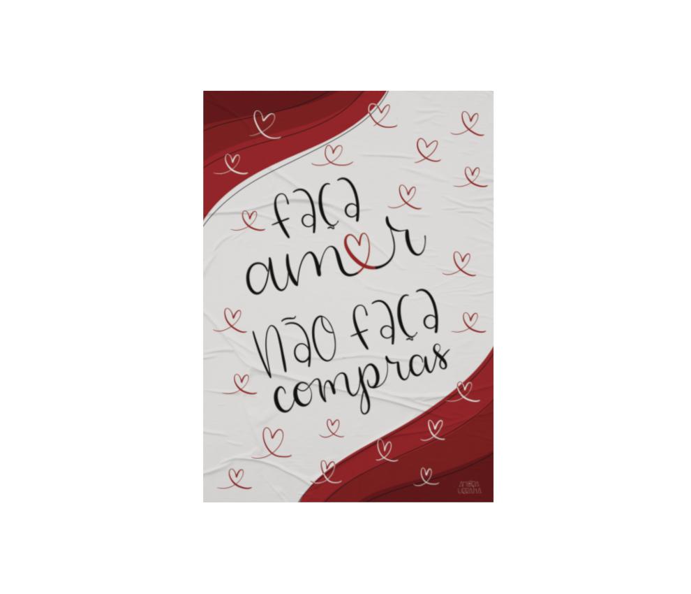 dobra - Lambe Autoadesivo - Faça amor não faça compras