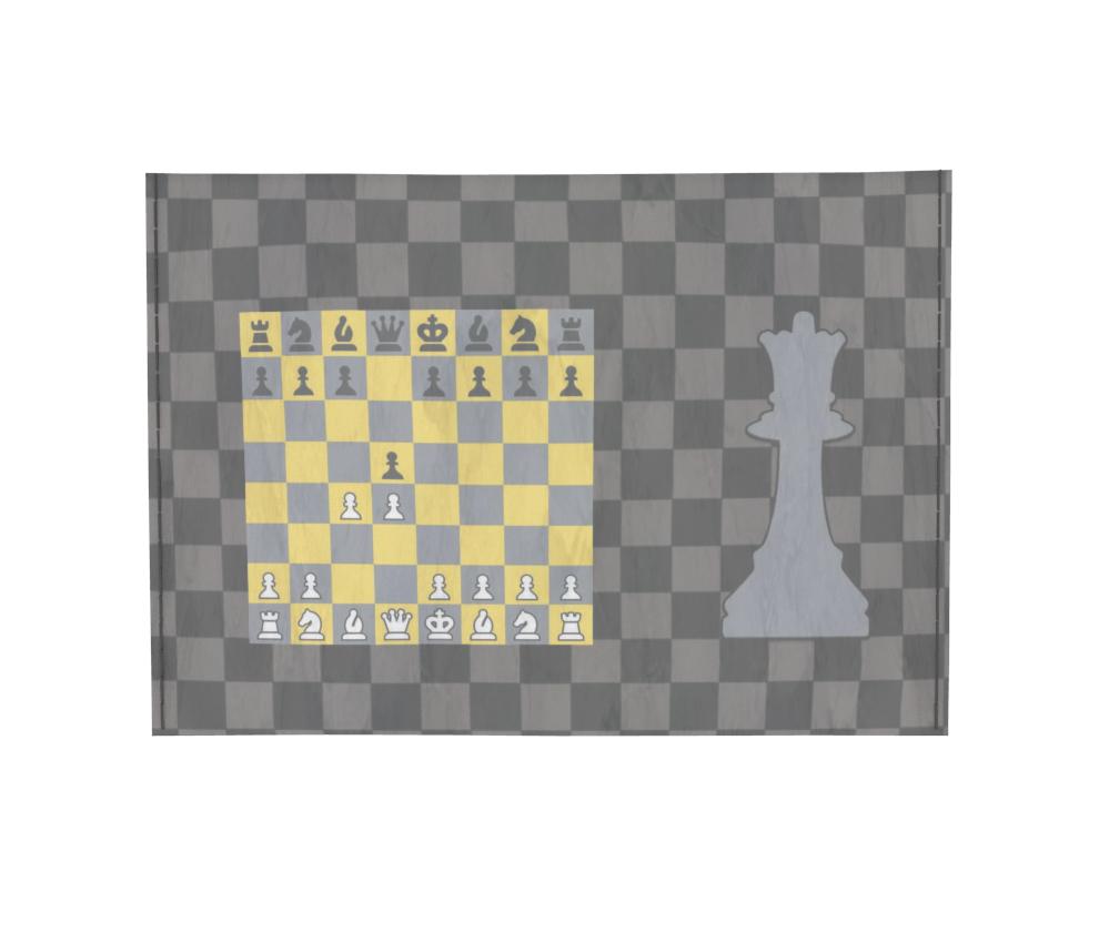 dobra - Porta Cartão - Gambito da Rainha (Dama)