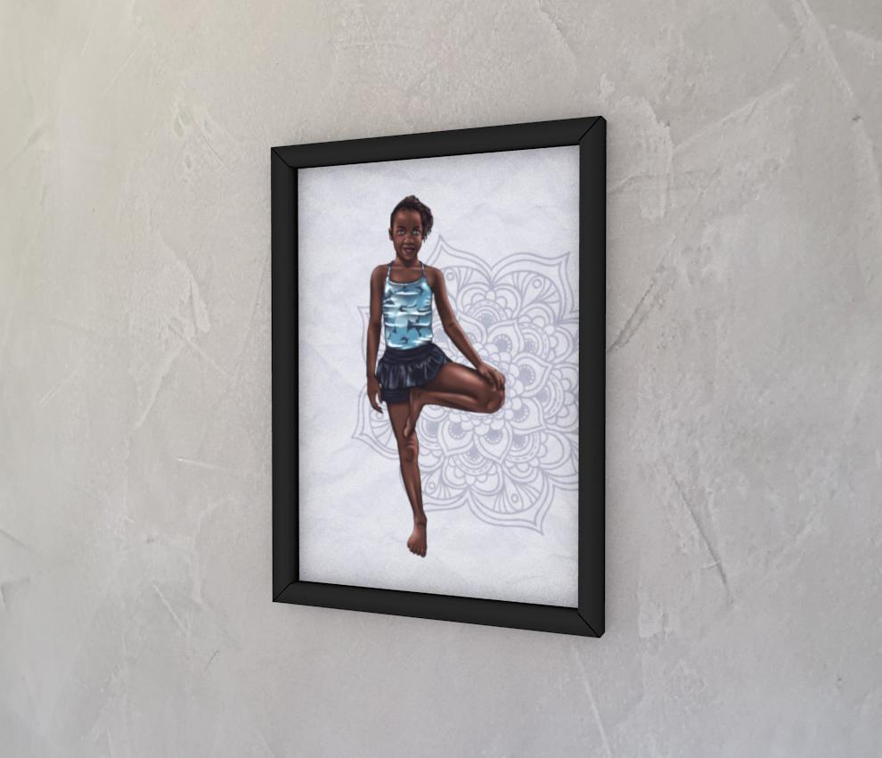 dobra - Quadro - Alice na praia Lwandi de maravilhas