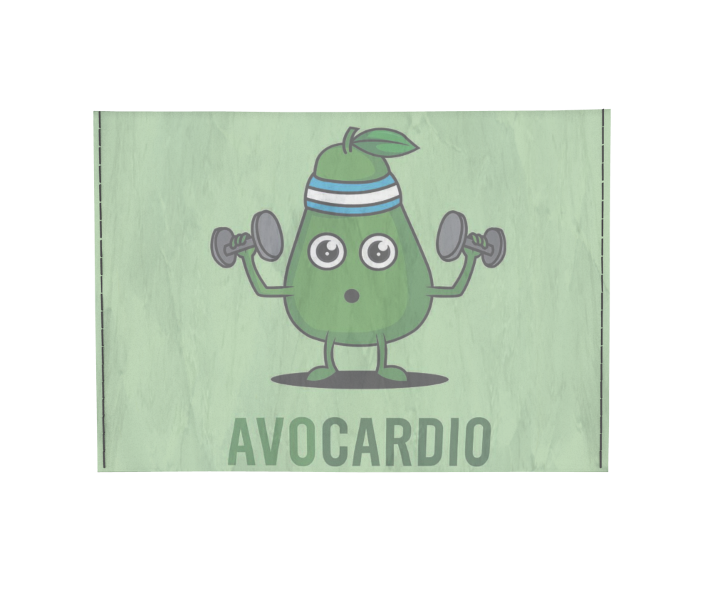 dobra - Porta Cartão - Avocardio: O abacate fitness