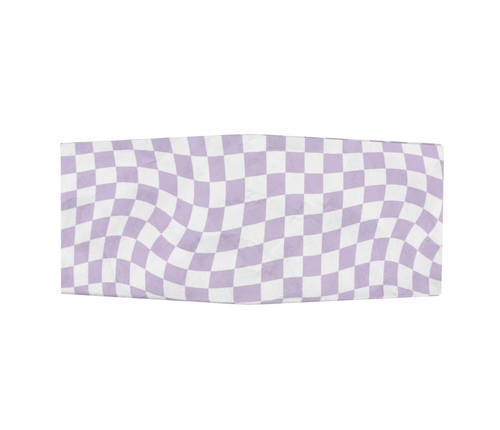 dobra - Nova Carteira Clássica - Warped Check Lilás