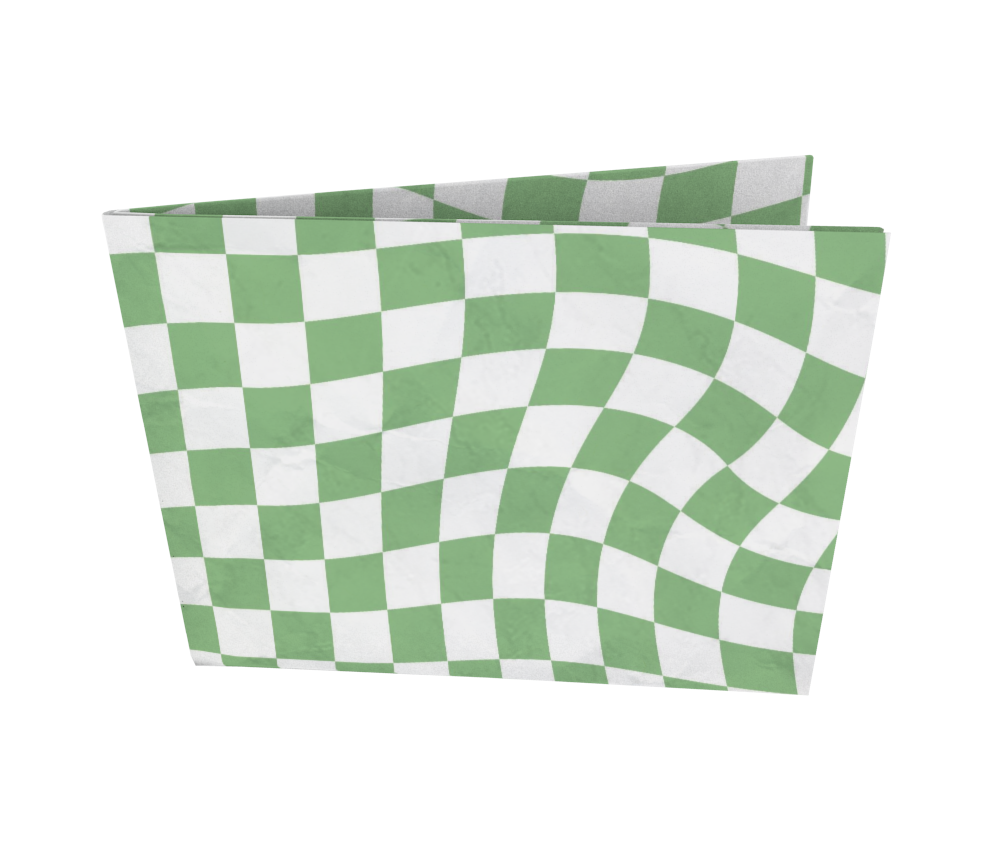 dobra - Nova Carteira Clássica - Warped Check Verde