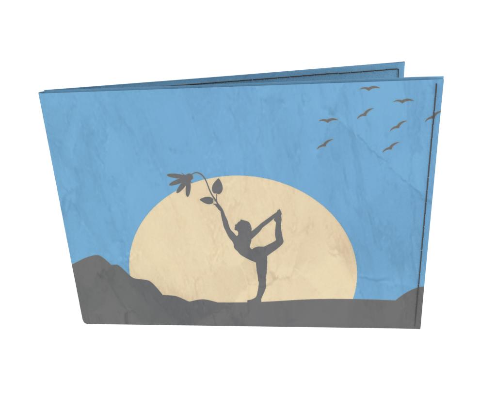 dobra - Carteira Old is Cool - Sombras da natureza e yoga à luz do luar - azul