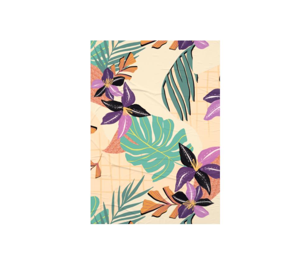 dobra - Lambe Autoadesivo - Floral Grid