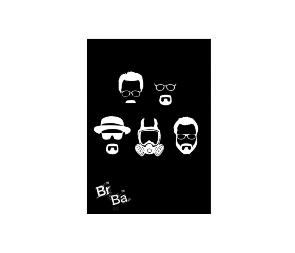 dobra - Lambe Autoadesivo - Walter White faces - minimalista