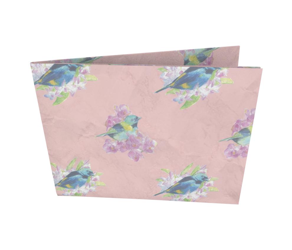 dobra - Nova Carteira Clássica - saíras e orquídeas