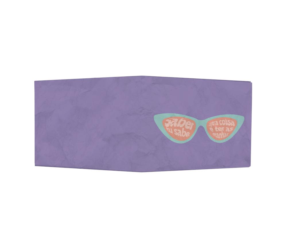 dobra - Nova Carteira Clássica - share - óculos roxo