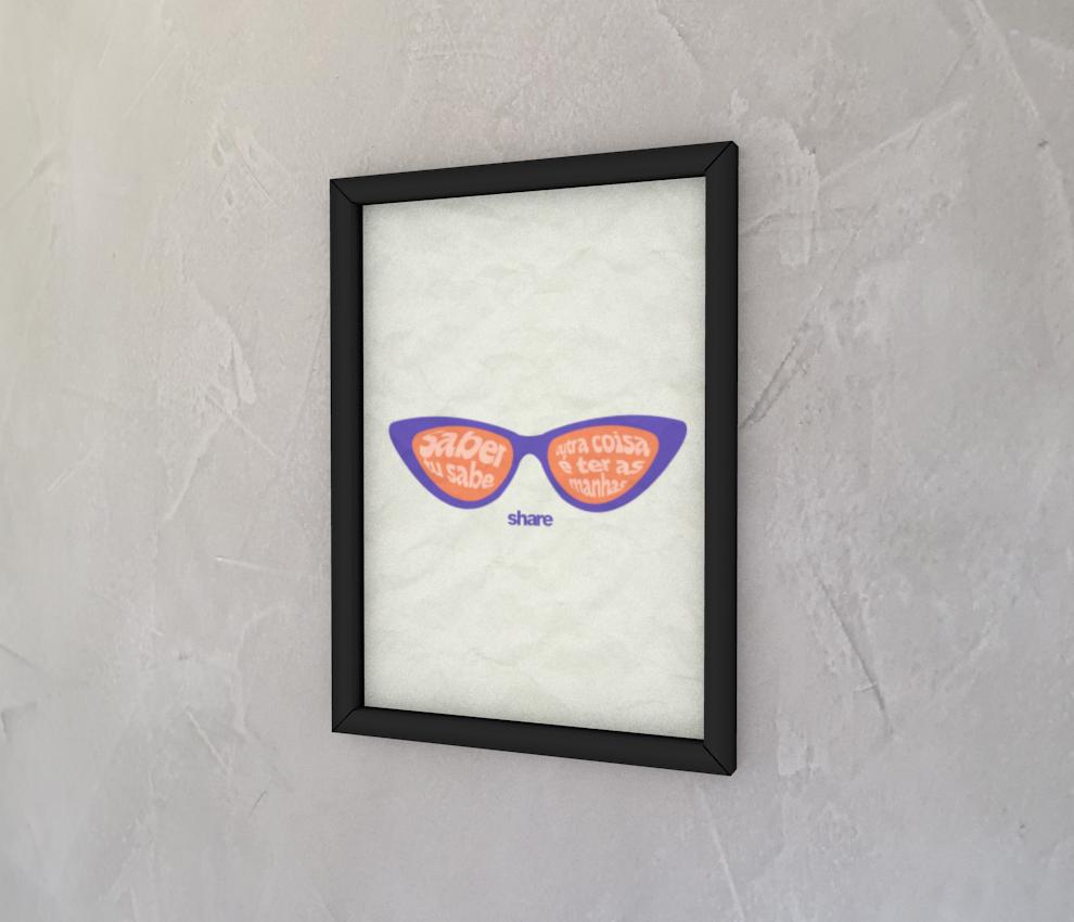dobra - Quadro - share - óculos bege