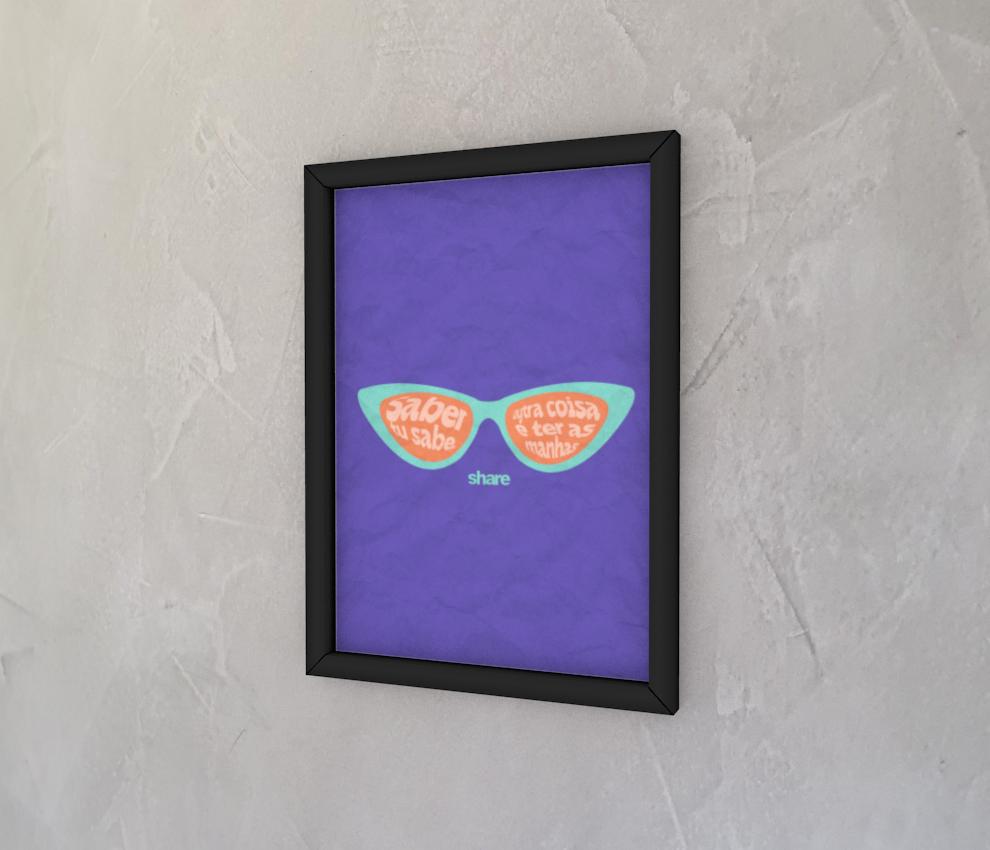 dobra - Quadro - share - óculos roxo