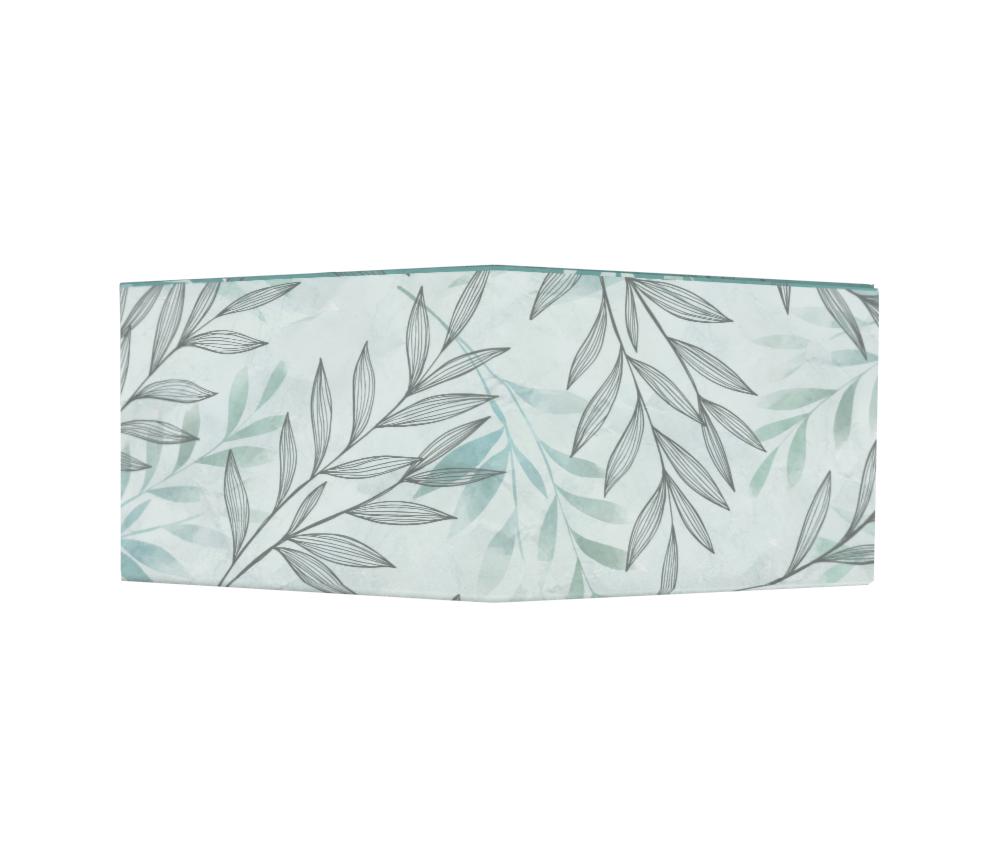 dobra - Nova Carteira Clássica - Folhas em Aquarela