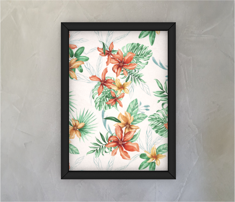 dobra - Quadro - Floral Tropical