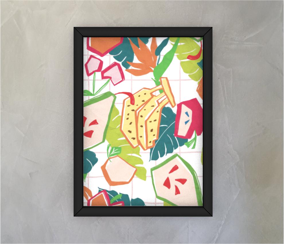 dobra - Quadro - Salada de Frutas