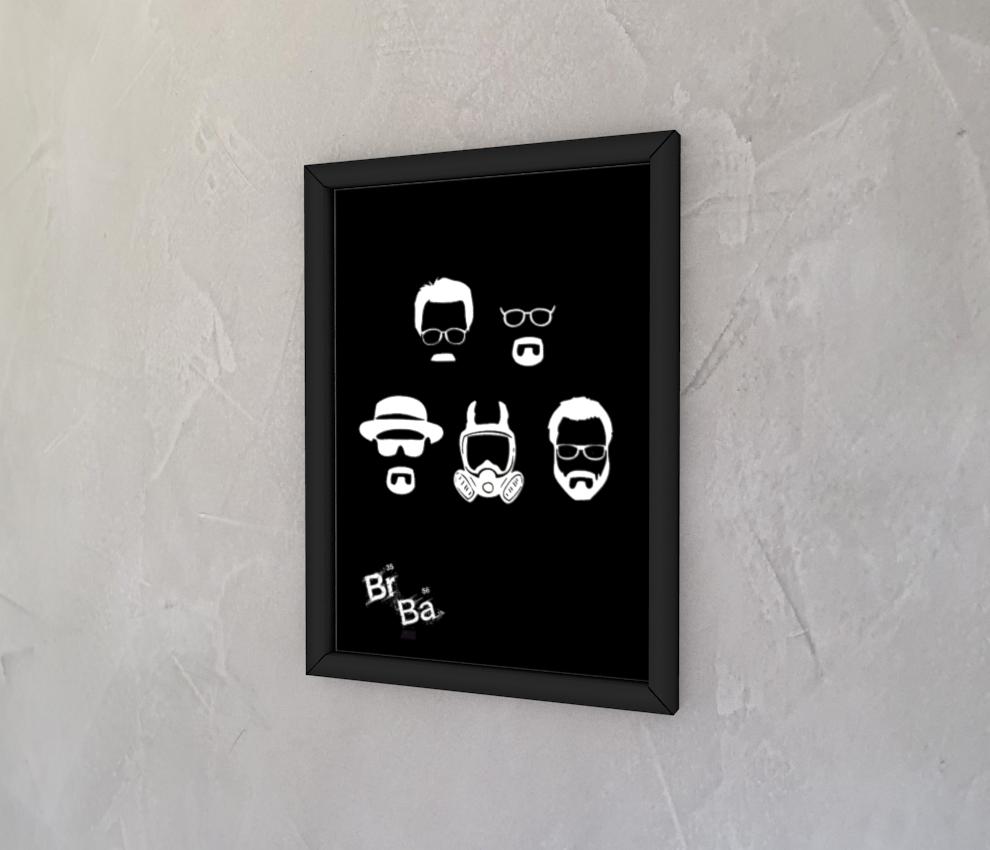 dobra - Quadro - Walter White faces - minimalista