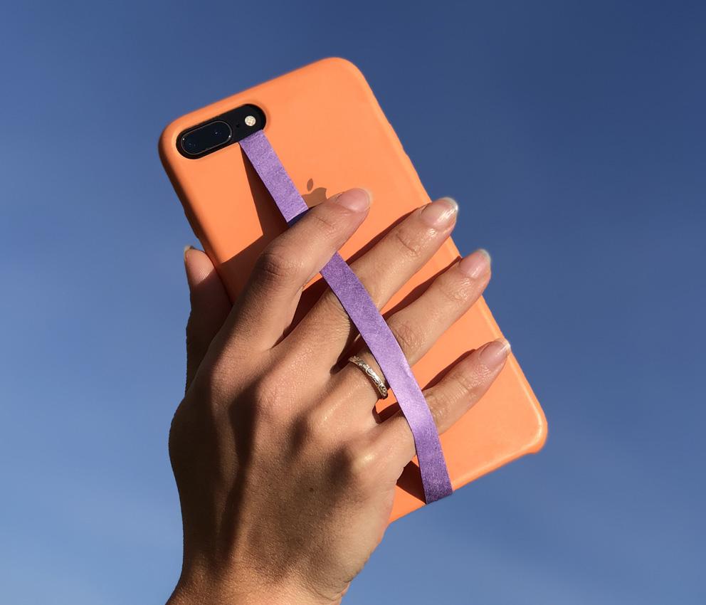 dobra fita celular roxa