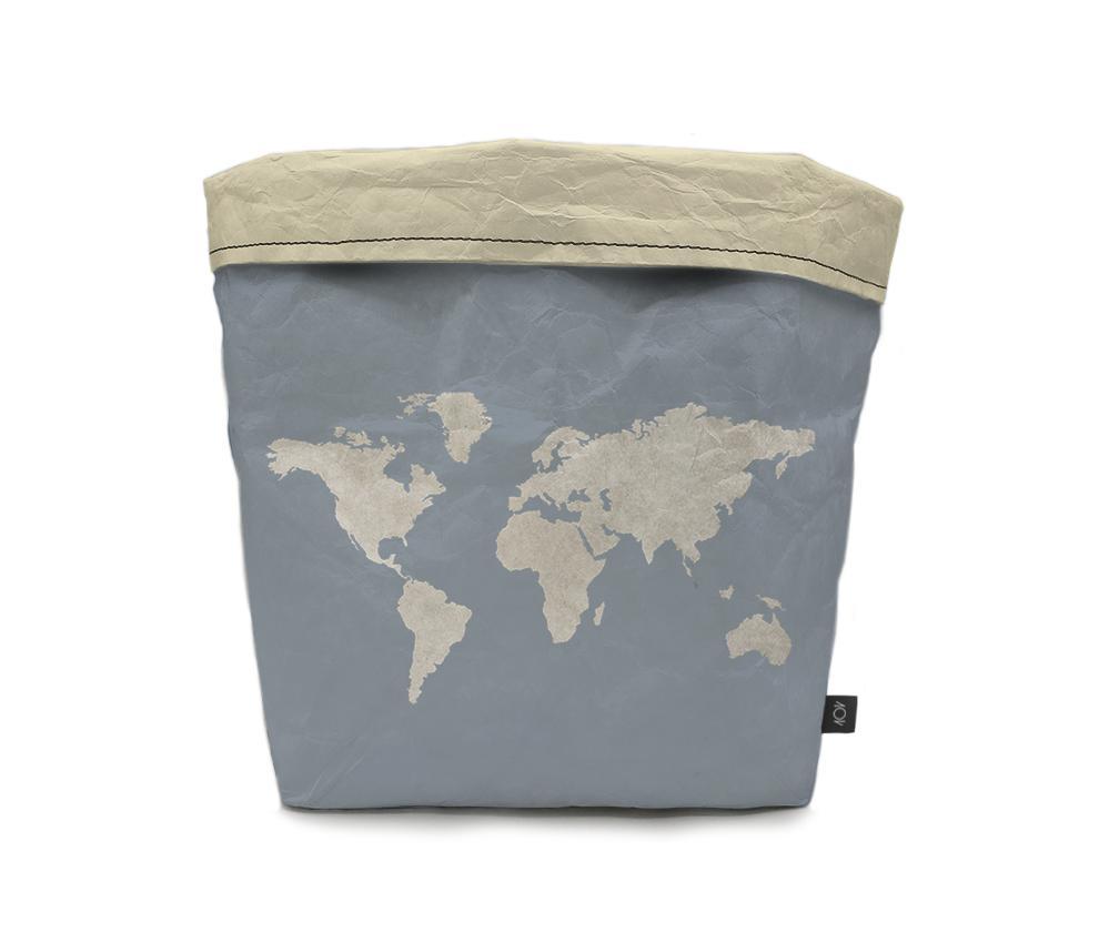 dobra - Cachepô - mapa mundi azulzão