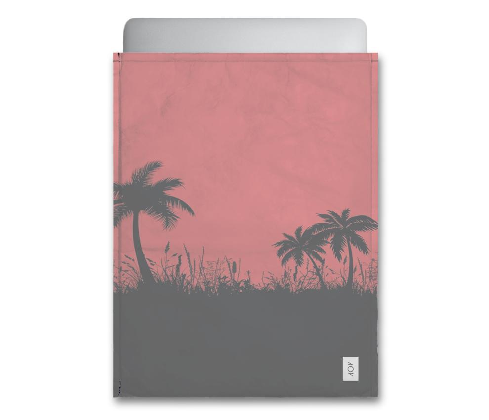 dobra - Capa Notebook - Palmeiras vermelhas