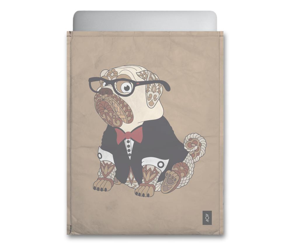 dobra - Capa Notebook - Cachorrinho tatuado de smoking