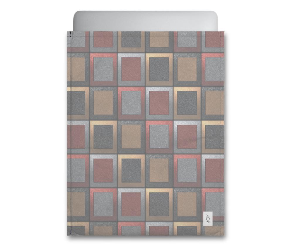 dobra - Capa Notebook - Quadriculado 3D