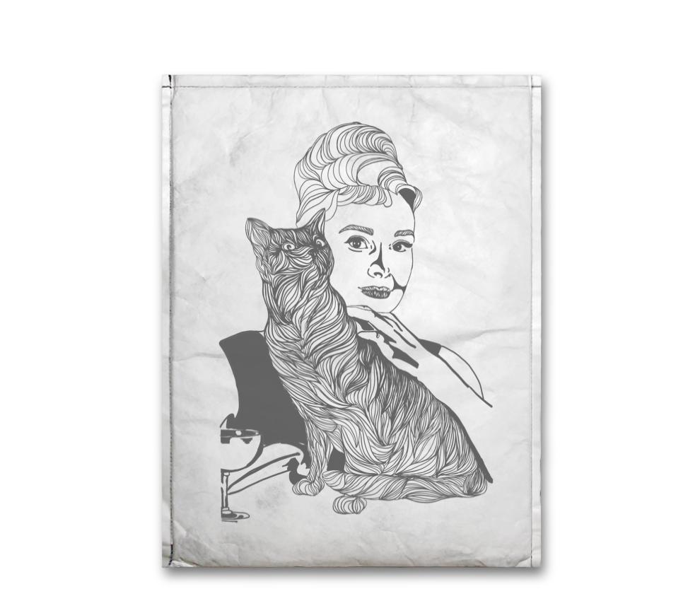 dobra - Capa Notebook - Audrey e o gato